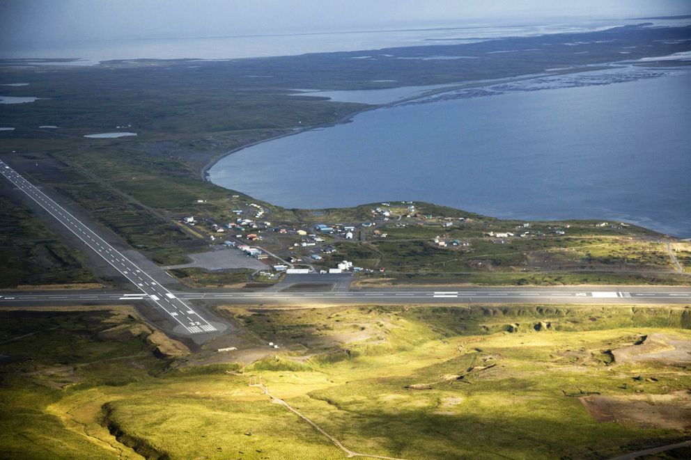 The runways at Cold Bay sit about 20 miles across the bay from King Cove. (U.S. Fish and Wildlife Service)