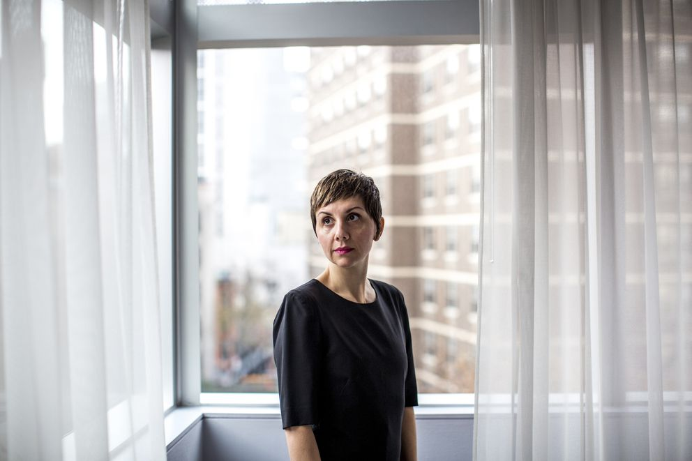 Jessica Hopper, a freelance writer who reached a settlement with Vice in 2003 over defamation claims related to an article she wrote for the company's magazine, at the Standard Hotel in New York, Dec. 5, 2017. (Natalie Keyssar/The New York Times)