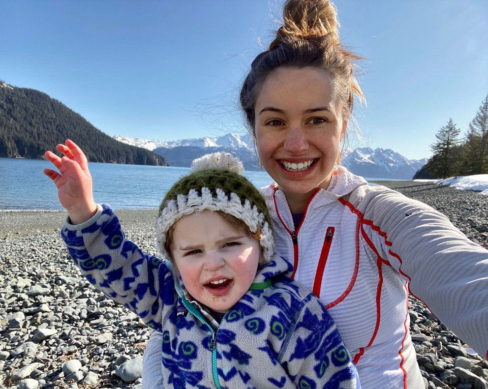 Marissa Amor-Hegna smiles with her son, Jude. Amor-Hegna is expecting her second child in a few months. (Photo by Marissa Amor-Hegna)