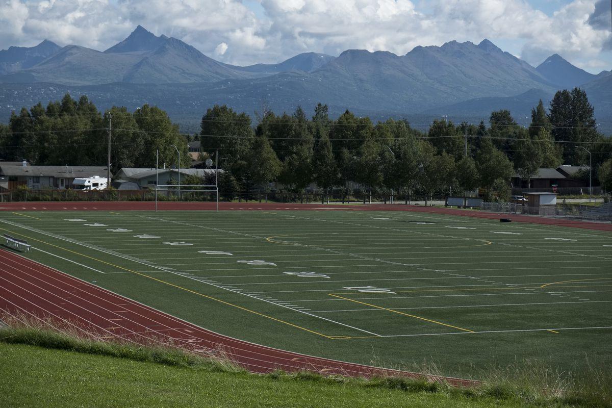 Dimond High School football field, photographed August 22, 2018. (Marc Lester / ADN)
