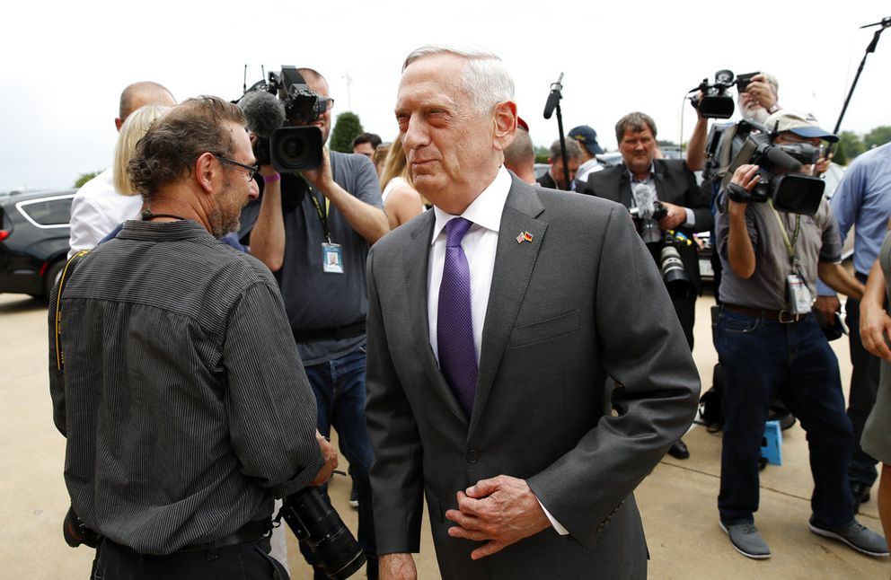 U.S. Defense Secretary Jim Mattis at the Pentagon last week. (AP Photo/Alex Brandon, File)