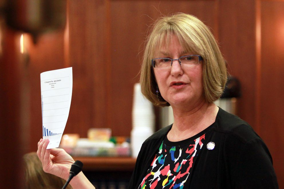 Eagle River Republican Sen. Anna MacKinnon. (Nathaniel Herz / Alaska Dispatch News)