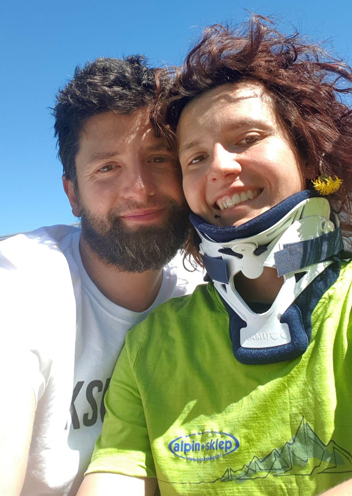 Michael Wangrat and Magdalena Czarnecka on June 2, 2018, in Anchorage. (Photo courtesy Magdalena Czarnecka and Michael Wangrat)