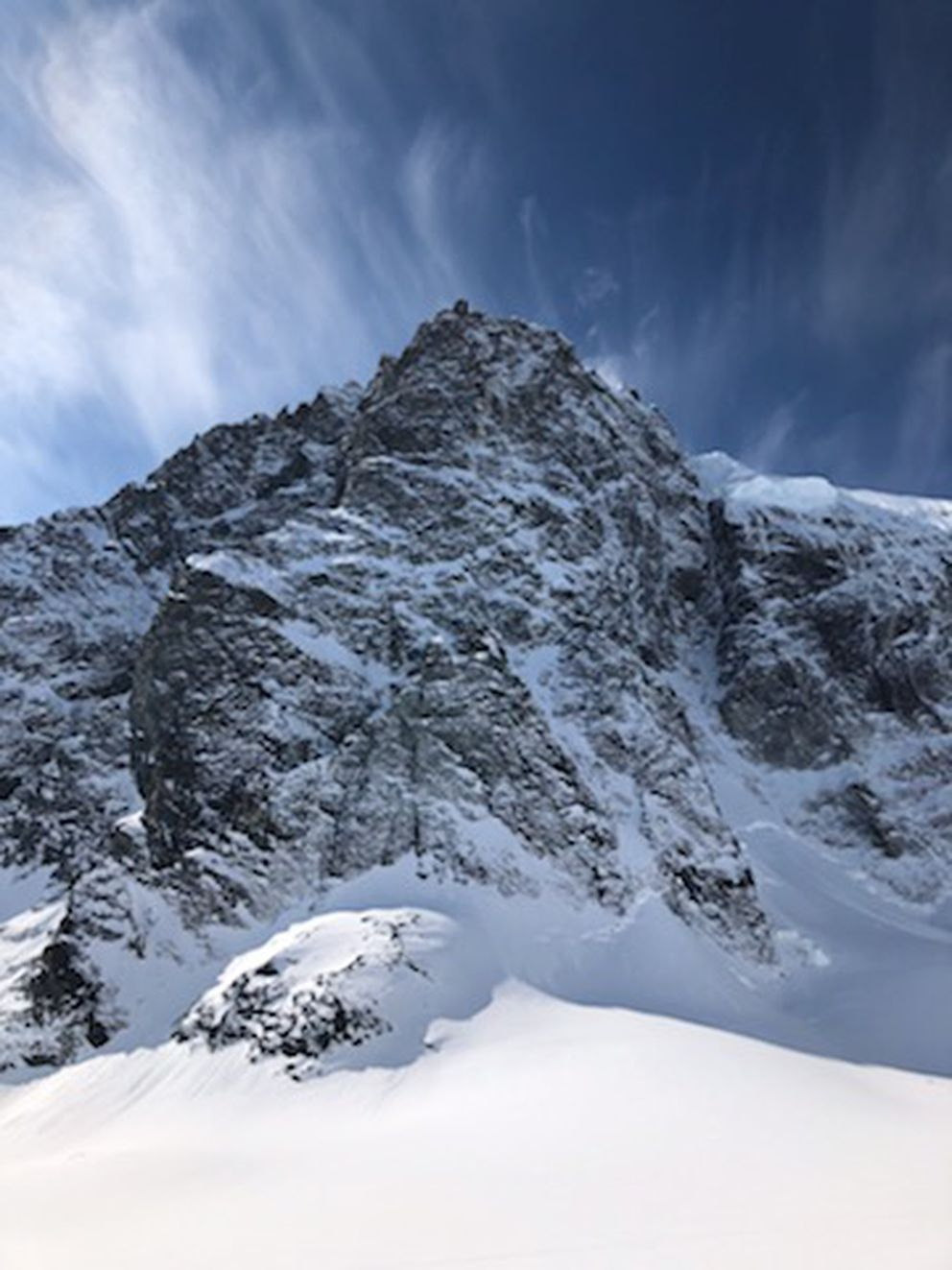 There has been no known successful climb of Mount Neacola from the north face. (Photo by Ryan Driscoll)
