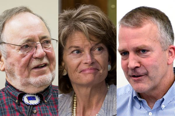 From left, Rep. Don Young, Sen. Lisa Murkowski and Sen. Dan Sullivan. (ADN and The New York Times file)