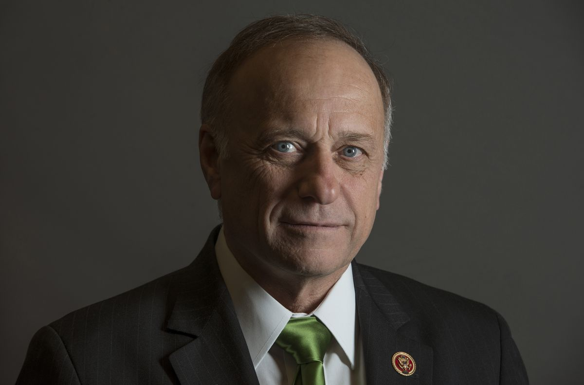 Rep. Steve King, R-Iowa, in his office in Washington, D.C. Washington Post photo by Bill O'Leary
