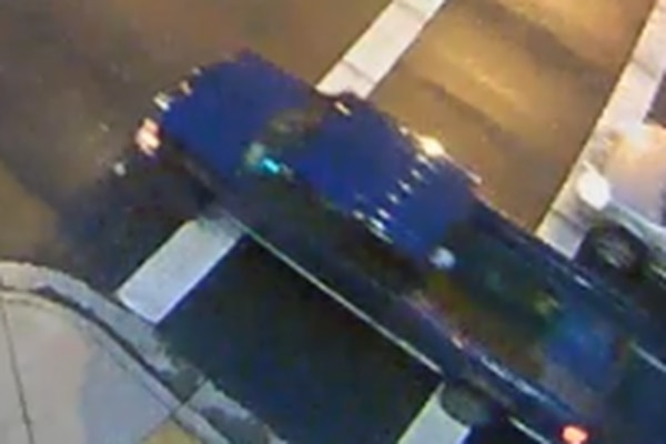 Surveillance camera image of pickup truck suspected in fatal hit-and-run, (Anchorage Police Department)