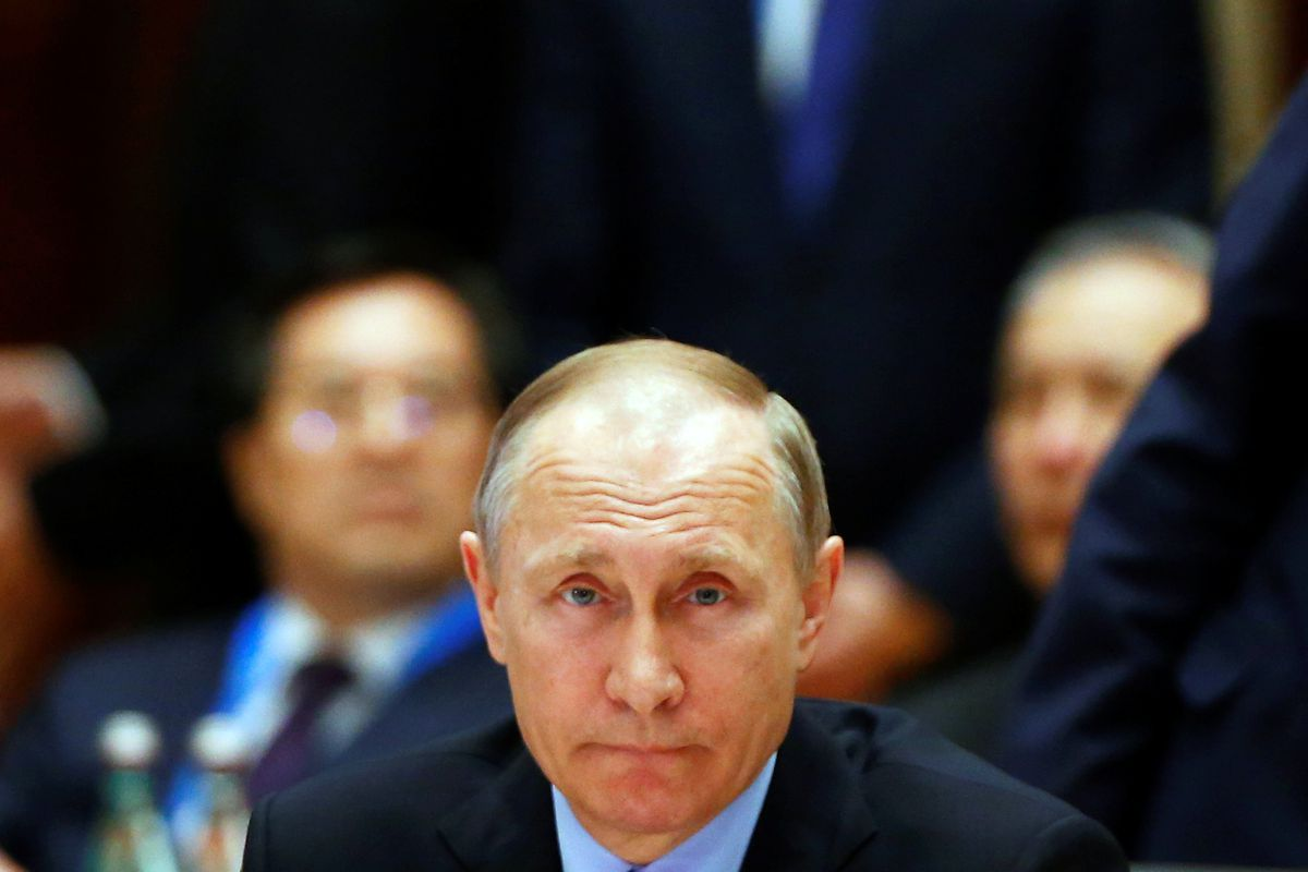 Russian President Vladimir Putin attends a summit at the Belt and Road Forum in Beijing, China, May 15, 2017. (Thomas Peter / Reuters)
