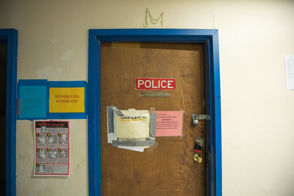 The Mountain Village police department office on June 27, 2019. (Loren Holmes / ADN)