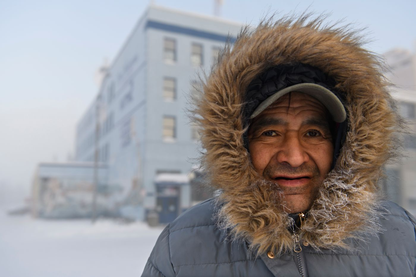 Arnold Koyukuk said he looks out for homeless people in Fairbanks when the temperatures drop. (Marc Lester / ADN)