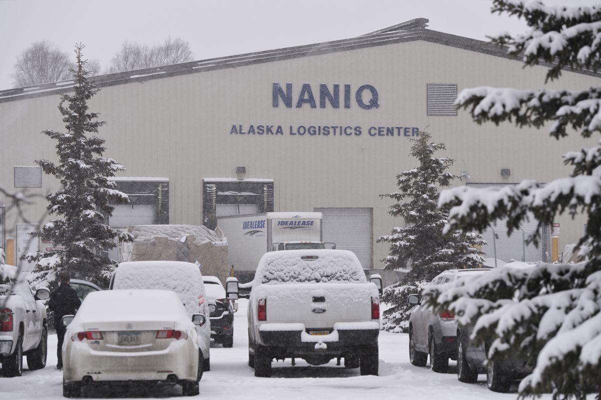 Naniq Global Logistics on Kulis Drive in Anchorage. Photographed Dec. 2, 2019. (Marc Lester / ADN)