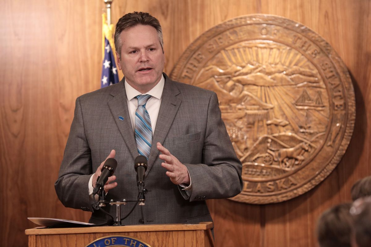 Gov. Mike Dunleavy proposed paying Alaska residents $3,678 over three years to make up on PFD payments Jan. 16, 2019. (Loren Holmes / ADN)