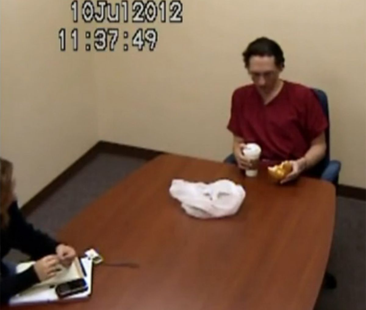 Israel Keyes is interviewed by the FBI on July 10, 2012. (FBI photo)