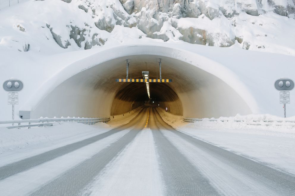 A Norwegian tunnel in Kirkenes, near the border with Russia. (Photo for The Washington Post by Ksenia Ivanova)