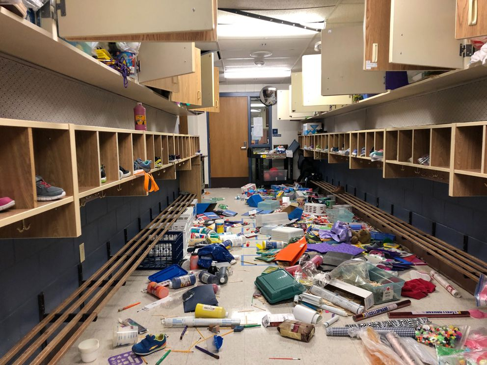 Eagle River Elementary School, photographed Tuesday. (Loren Holmes / ADN)