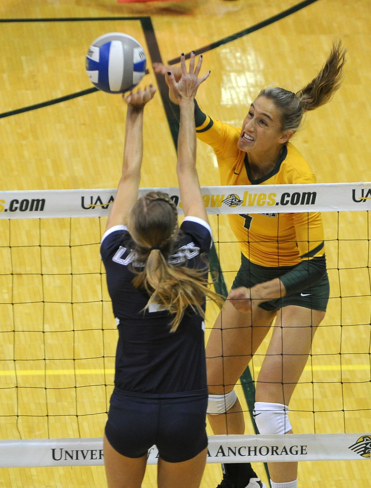 Leah Swiss, who ranks fourth on UAA's all-time kill list, won't return for her senior season. (Bob Hallinen / ADN archives)