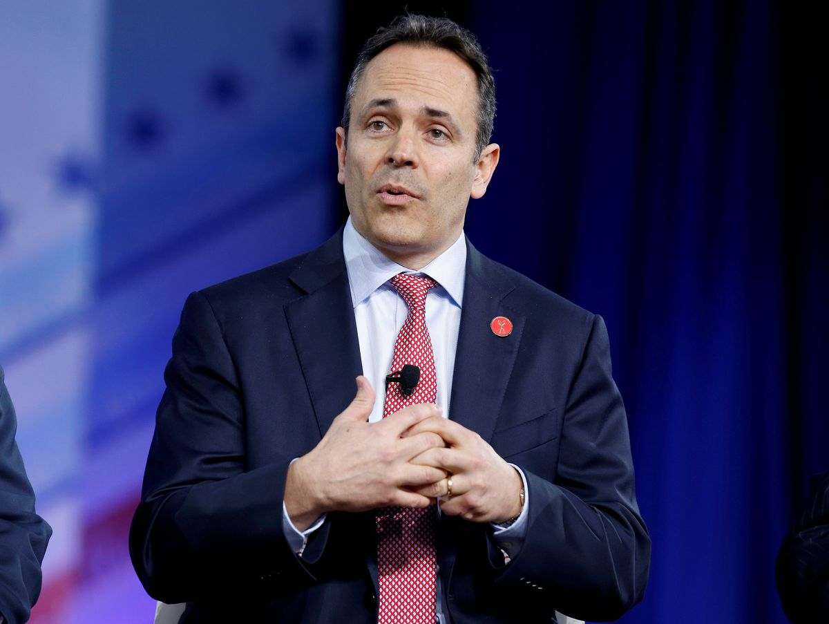 RepublicanGov. Matt Bevin of Kentucky speaks during the Conservative Political Action Conference in National Harbor, Maryland, February 23, 2017. REUTERS/Joshua Roberts/File