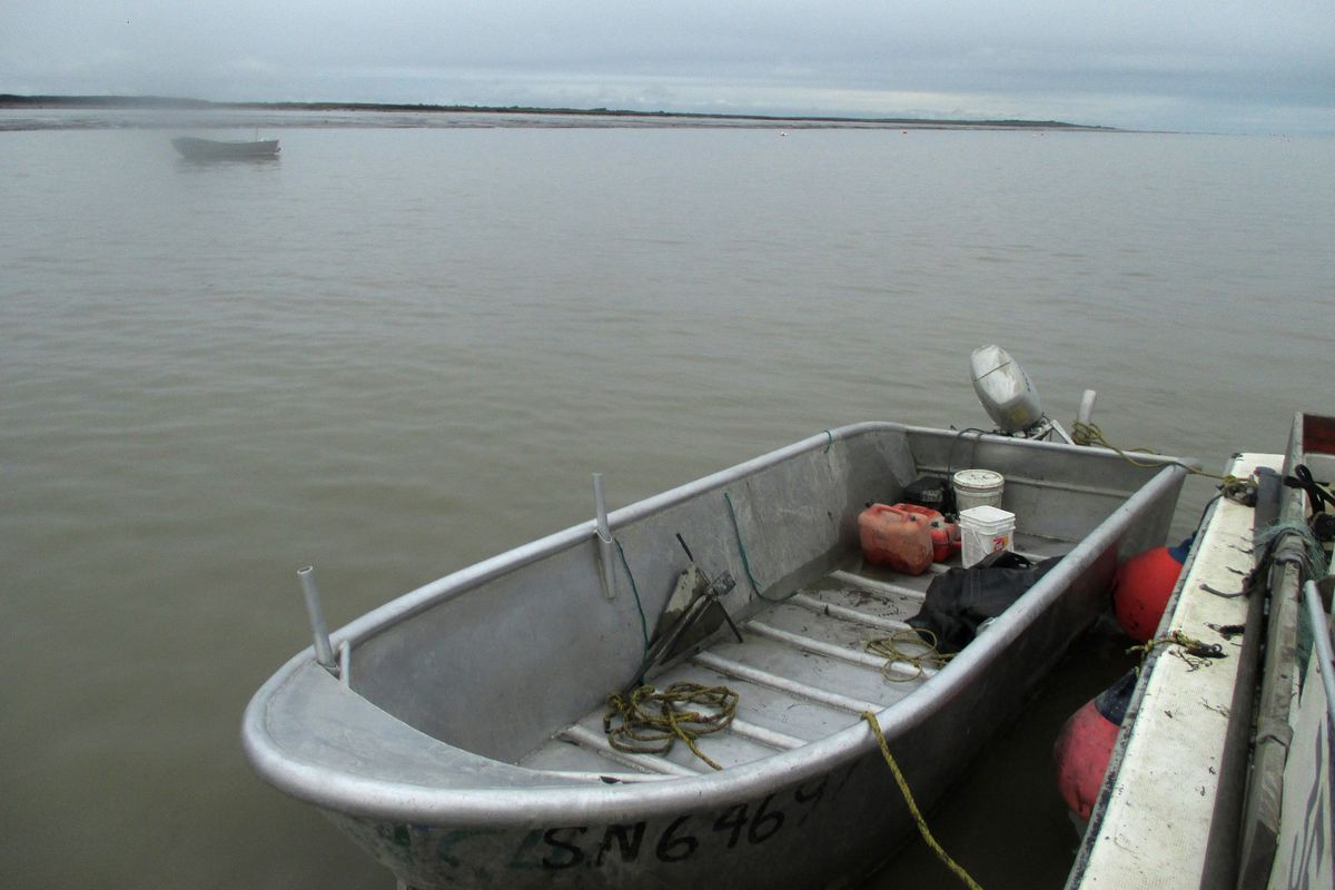 John Schandelmeier's skiff was built by Doyle Carlson of Kenai in 1974 and has been used every season since. It's been up and down the Yukon five times, has crossed Cook Inlet several times and is currently working in Bristol Bay. (Photo by John Schandelmeier)