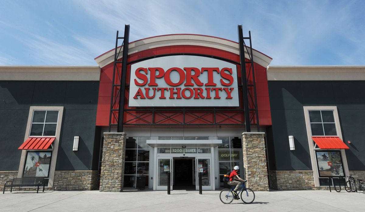 Sports Authority store at Tikahtnu Commons, one of four stores in Alaska, on Thursday, May 19, 2016. All four stores are expected to close by August. (Bill Roth / Alaska Dispatch News)