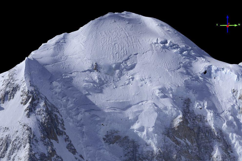 """An image of Denali that Matt Nolan made from a """"fodar"""" mapping mission in his Cessna 206. (Courtesy Matt Nolan)"""