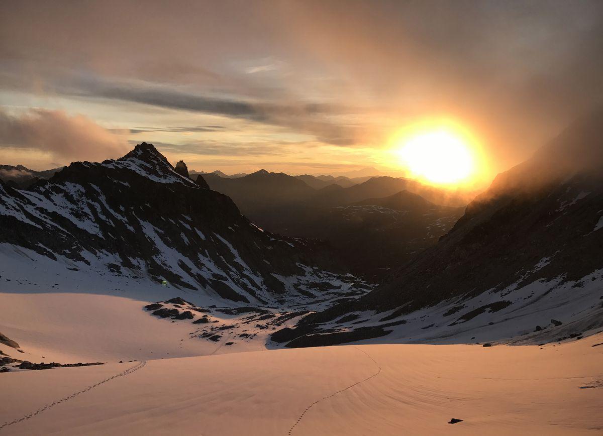 Penny Royal Glacier, pictured late on June 18, 2017. (Vicky Ho / ADN archive)