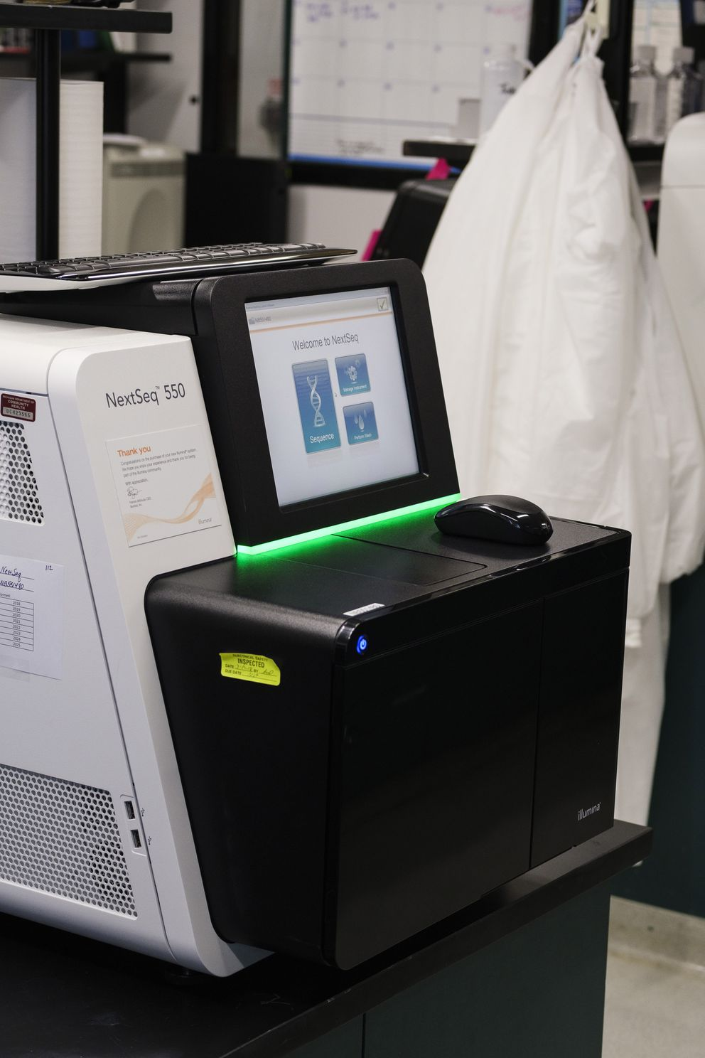 A sequencer tracks the genome of the novel coronavirus at the Michigan Department of Health and Human Services in Lansing. (Photo for The Washington Post by Brittany Greeson)