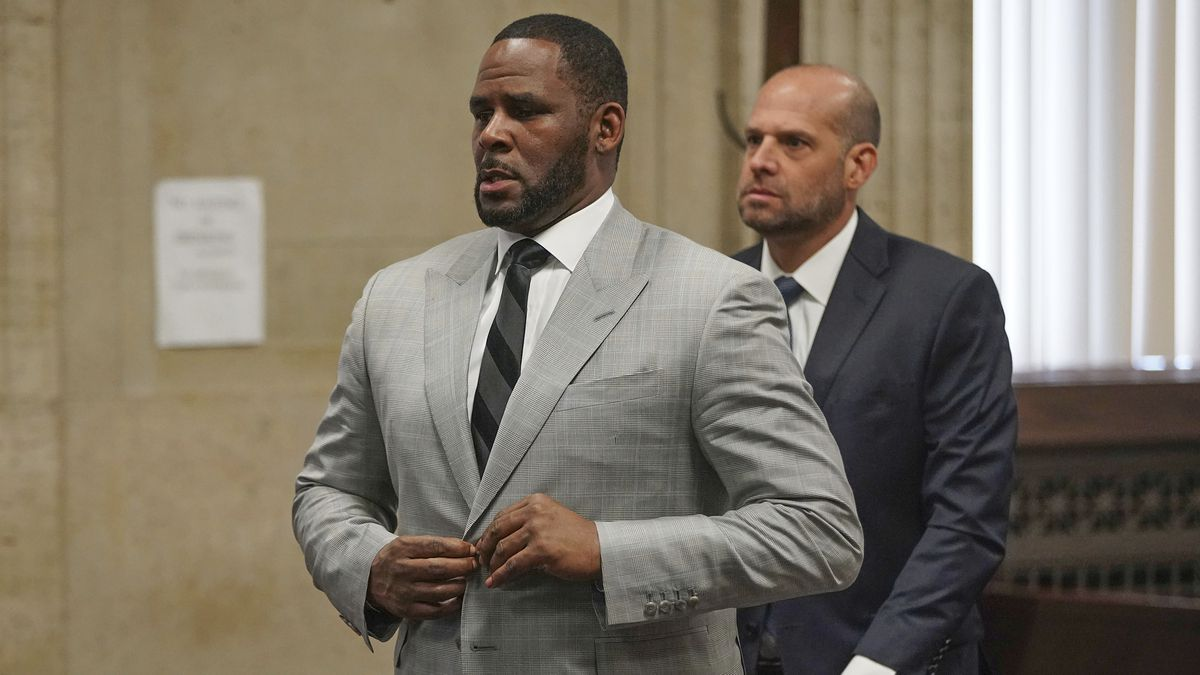 Singer R. Kelly pleaded not guilty June 6 to 11 additional sex-related felonies during a court hearing before Judge Lawrence Flood at Leighton Criminal Court Building in Chicago. Kelly was arrested in Chicago Thursday, July 11, 2019 on a federal grand jury indictment listing 13 counts including sex crimes and obstruction of justice. (E. Jason Wambsgans/Chicago Tribune via AP, Pool)