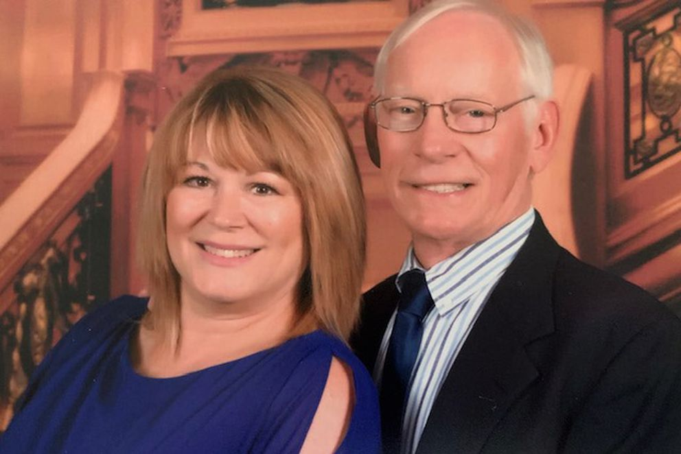 Susie and Dave Schaefer are a Wasilla couple quarantined in their cabin aboard the Coral Princess cruise ship. The couple's planned 32-day trip began March 5 in Chile. They hope to get home through Florida, where the ship is scheduled to arrive this weekend. (Photo courtesy of Susie Schaefer)