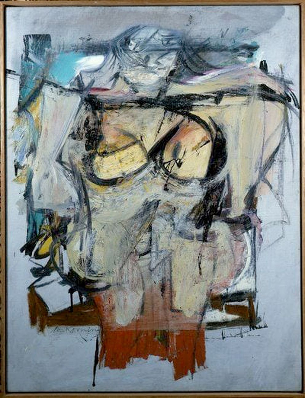 """Woman-Ochre"" by Willem de Kooning. (Courtesy of University of Arizona Museum of Art)"