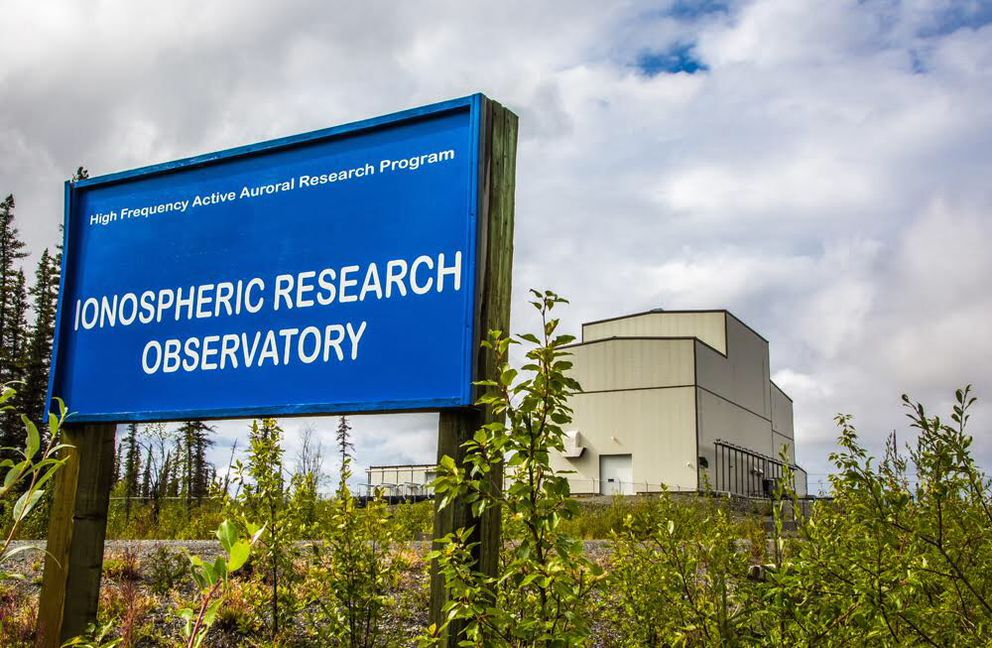 The entrance of the University of Alaska's upper-atmosphere research station. (Todd Paris / UAF)
