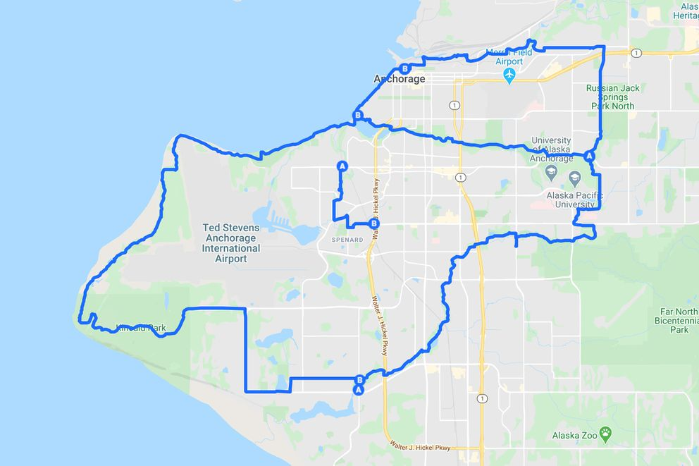 The Moose Loop stitches together many of Anchorage's bike trails for a 30-plus-mile circumnavigation of the city. (Anchorage Park Foundation map)