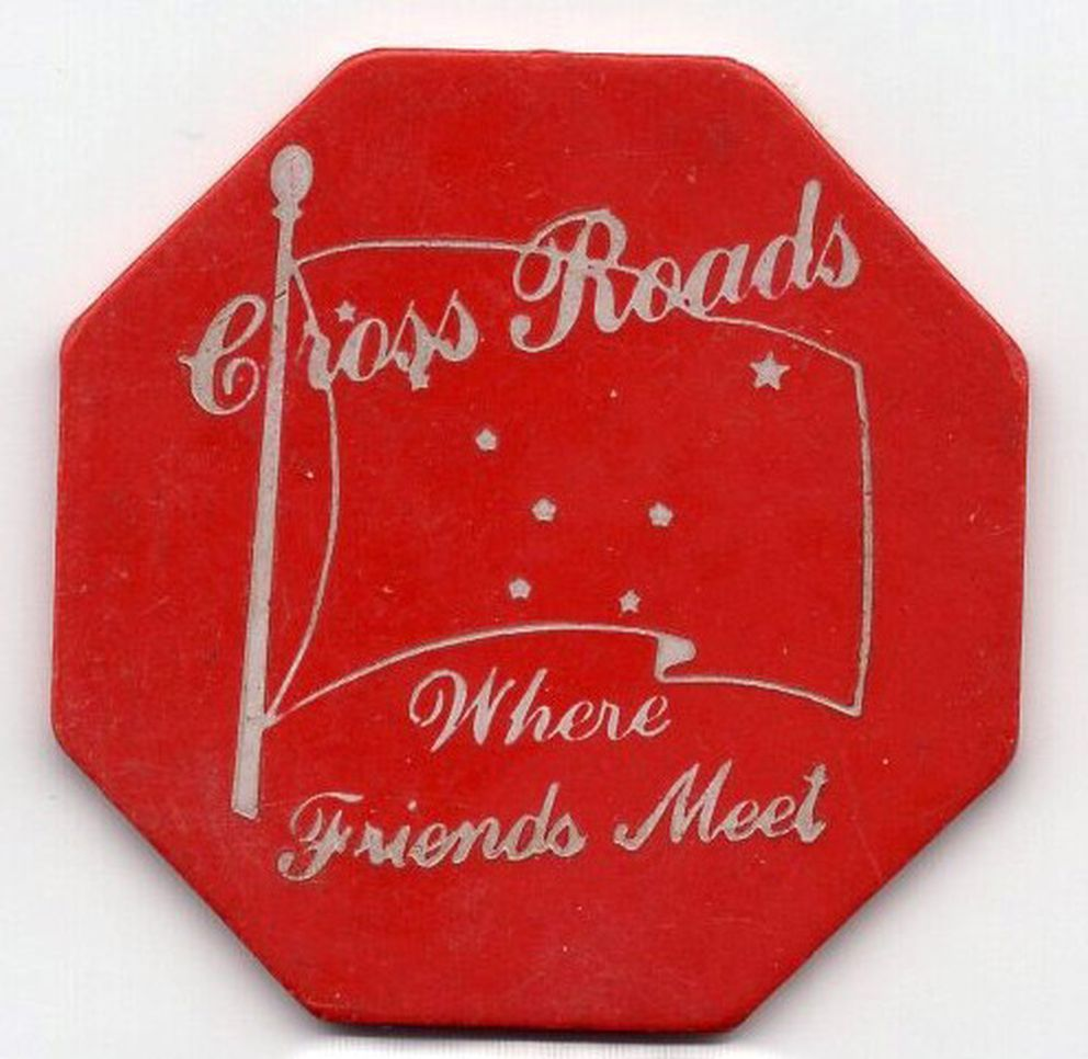Token from the Cross Roads Bar. (Photo by David Reamer)