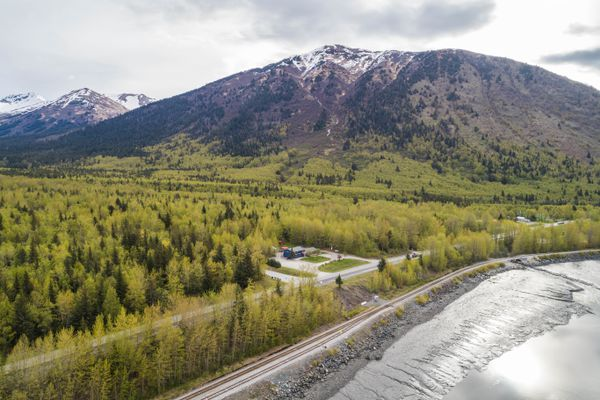 The Turnagain Arm BBQ Pit in Indian on Friday, May 25, 2018. (Loren Holmes / ADN)