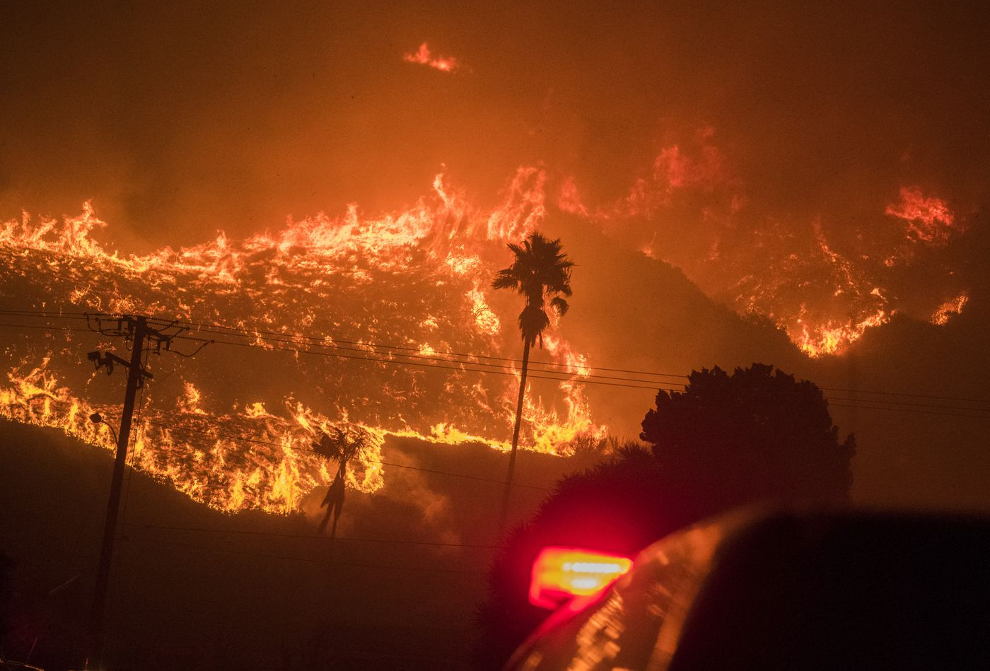 The Thomas Fire in December 2017 was the first sign that Santa Barbara's climate had changed and that wildfires had become more severe. It burned 281,000 acres and heavy rains a month later killed 23 people. Photo for The Washington Post by Stuart Palley