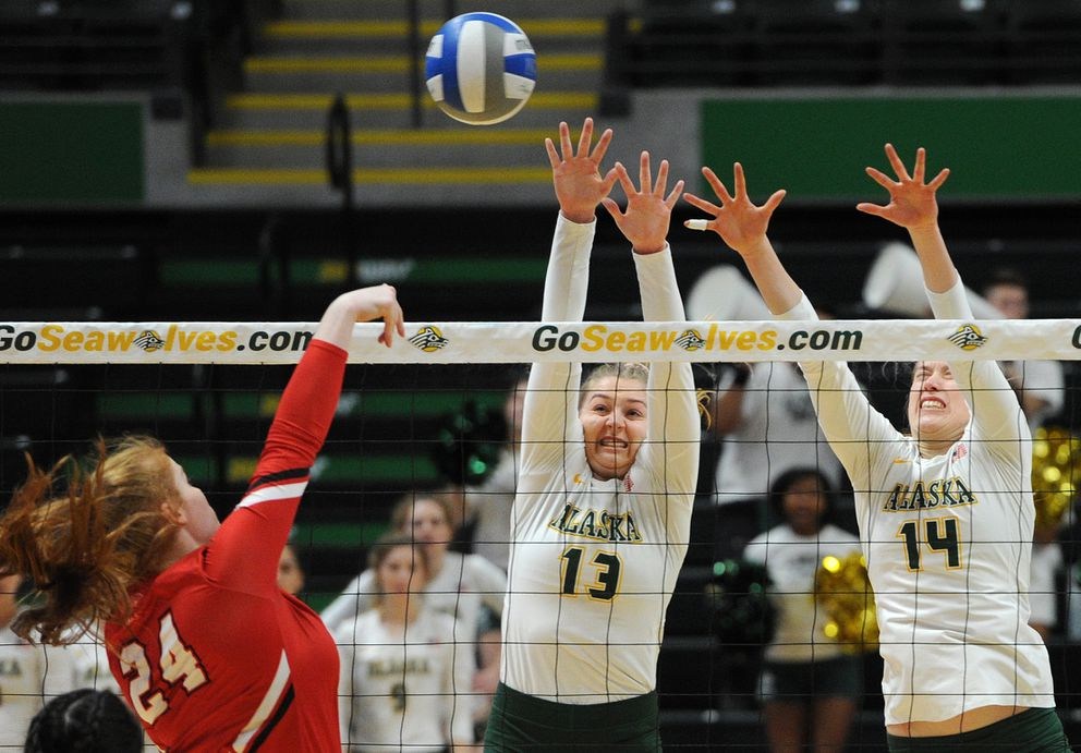 UAA's Ellen Floyd (13) was named an All-American honorable mention pick Wednesday. (Bill Roth / ADN)