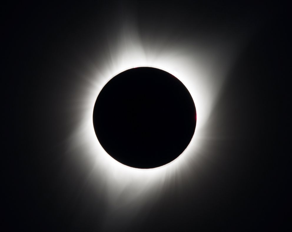 The total solar eclipse is seen above Madras, Oregon. Courtesy Aubrey Gemignani/NASA/Handout via REUTERS