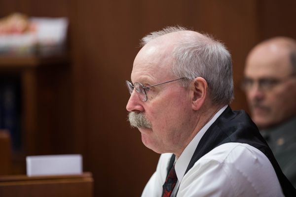 Sen. Bert Stedman, R-Sitka, on the first day of the legislative session on Tuesday, Jan. 15, 2019 at the Alaska State Capitol in Juneau. (Loren Holmes / ADN)