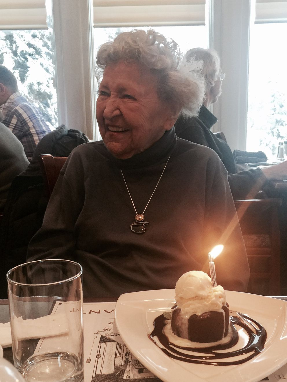 Grace Berg Schaible at her 90th birthday party in 2015. (Diane Kaplan)