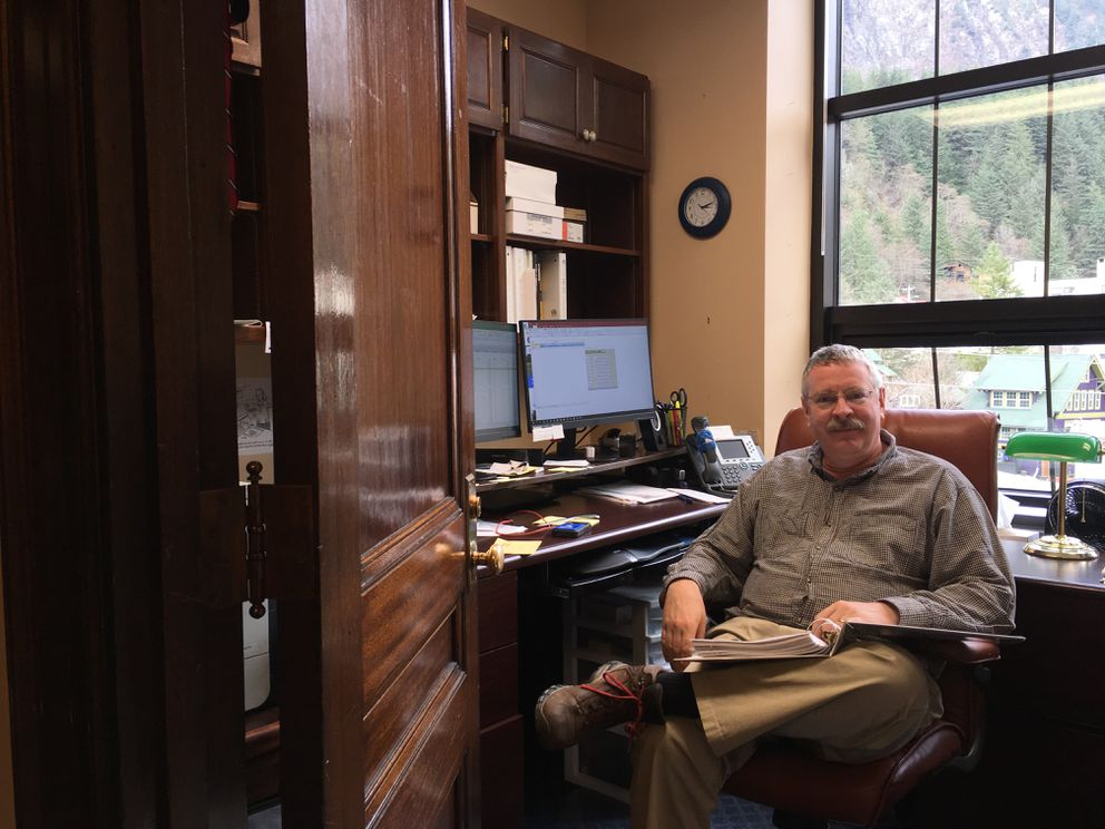 Eagle River Republican Rep. Dan Saddler sits in his office Sunday. (Nathaniel Herz / ADN)