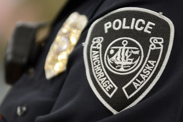 Anchorage Police Department APD patch Dec. 20, 2019. (Anne Raup / ADN)