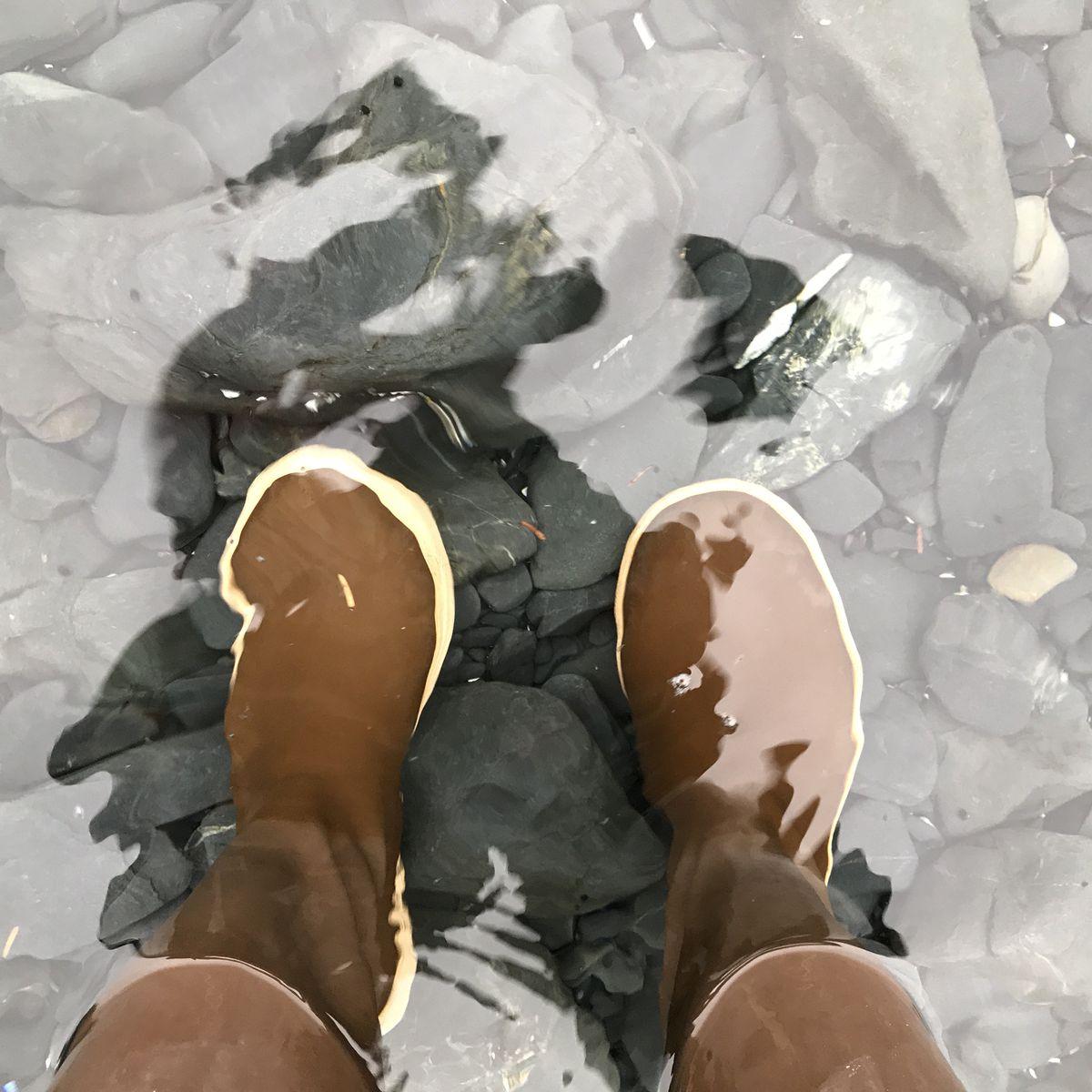 Xtratuf boots in Kodiak water. (Anne Raup / ADN)