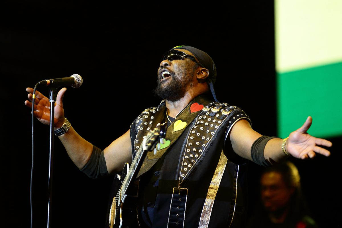 Toots Hibbert of Toots and the Maytals performs on stage during day one of Formula 1 Singapore Grand Prix at Marina Bay Street Circuit on September 20, 2019 in Singapore. Hibbert died Friday in Jamaica at age 77. (Photo by Suhaimi Abdullah/Getty Images)