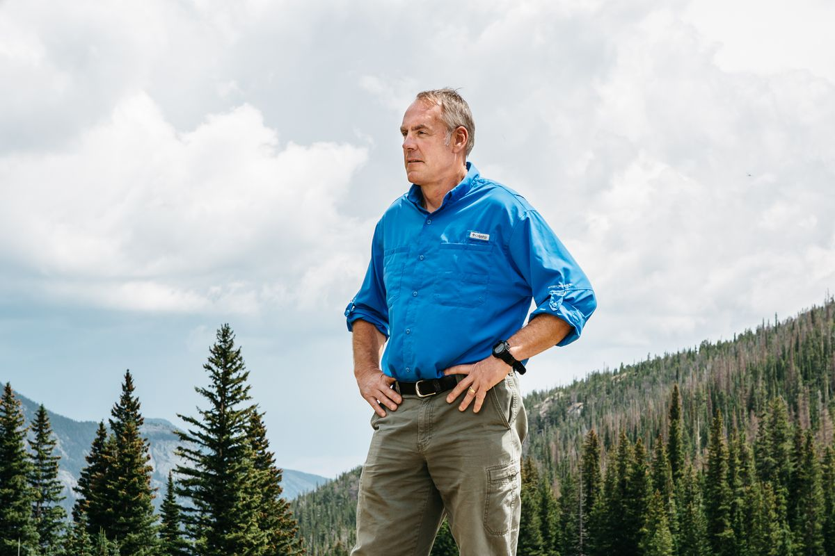 Ryan Zinke, the Trump administration's Interior secretary, visits Rocky Mountain National Park in Colorado, July 22, 2017. (Ryan David Brown/The New York Times file)
