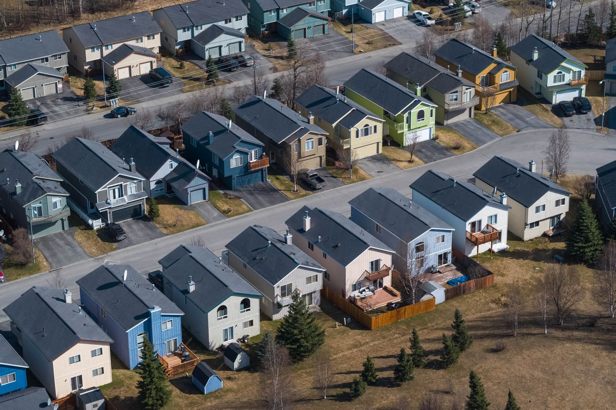 Homes in East Anchorage on May 2, 2018. (Loren Holmes / ADN)
