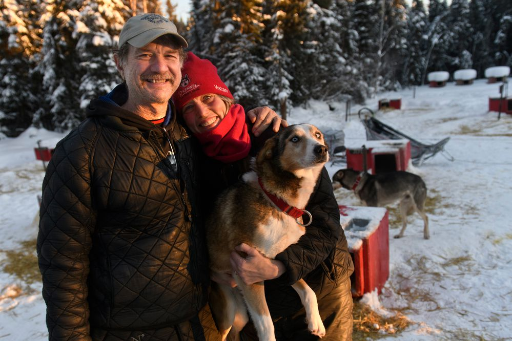 Veteran mushers Allen Moore and Aliy Zirkle are both retiring from the sport. Moore is a three-time winner of the Yukon Quest, and Zirkle has finished 20 consecutive Iditarods, placing second three times. Photographed in Two Rivers on February 13, 2021. (Marc Lester / ADN)