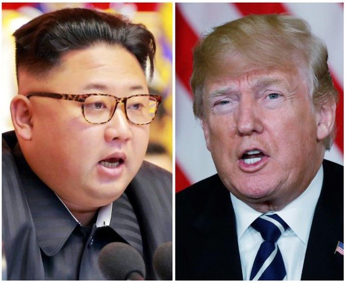 FILE PHOTO: A combination photo shows North Korean leader Kim Jong Un (C) in Pyongyang, North Korea and U.S. President Donald Trump (R), in Palm Beach, Florida, U.S., respectively from Reuters files. (REUTERS/Yuri Gripas (L) & KCNA handout via Reuters & Kevin Lamarque (R))