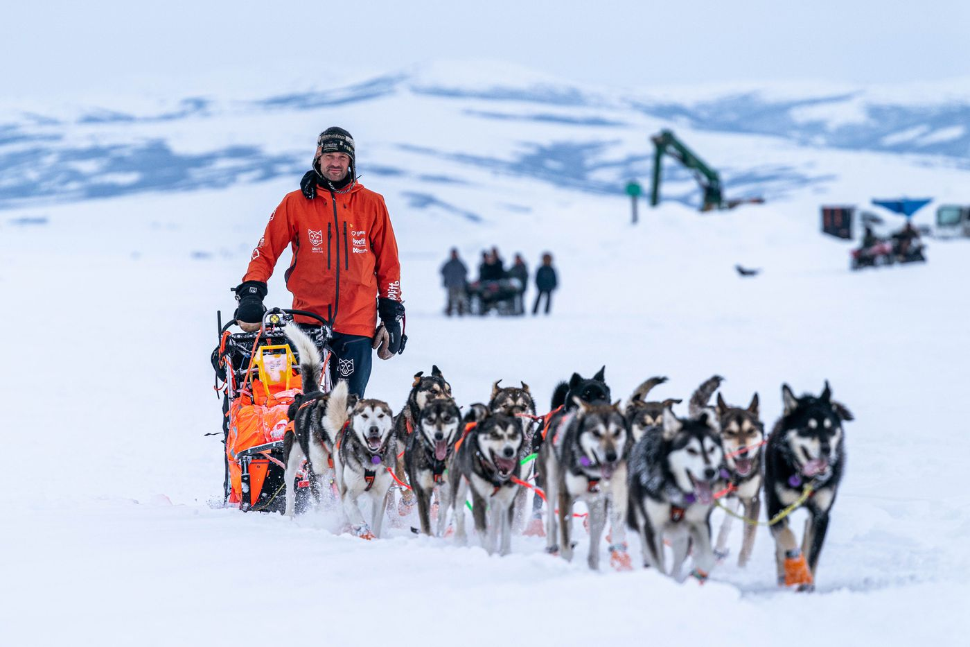 MARCH 15. Thomas Waerner mushes into Unalakleet during the Iditarod Trail Sled Dog Race. He went on to win the race in Nome. (Loren Holmes / ADN)