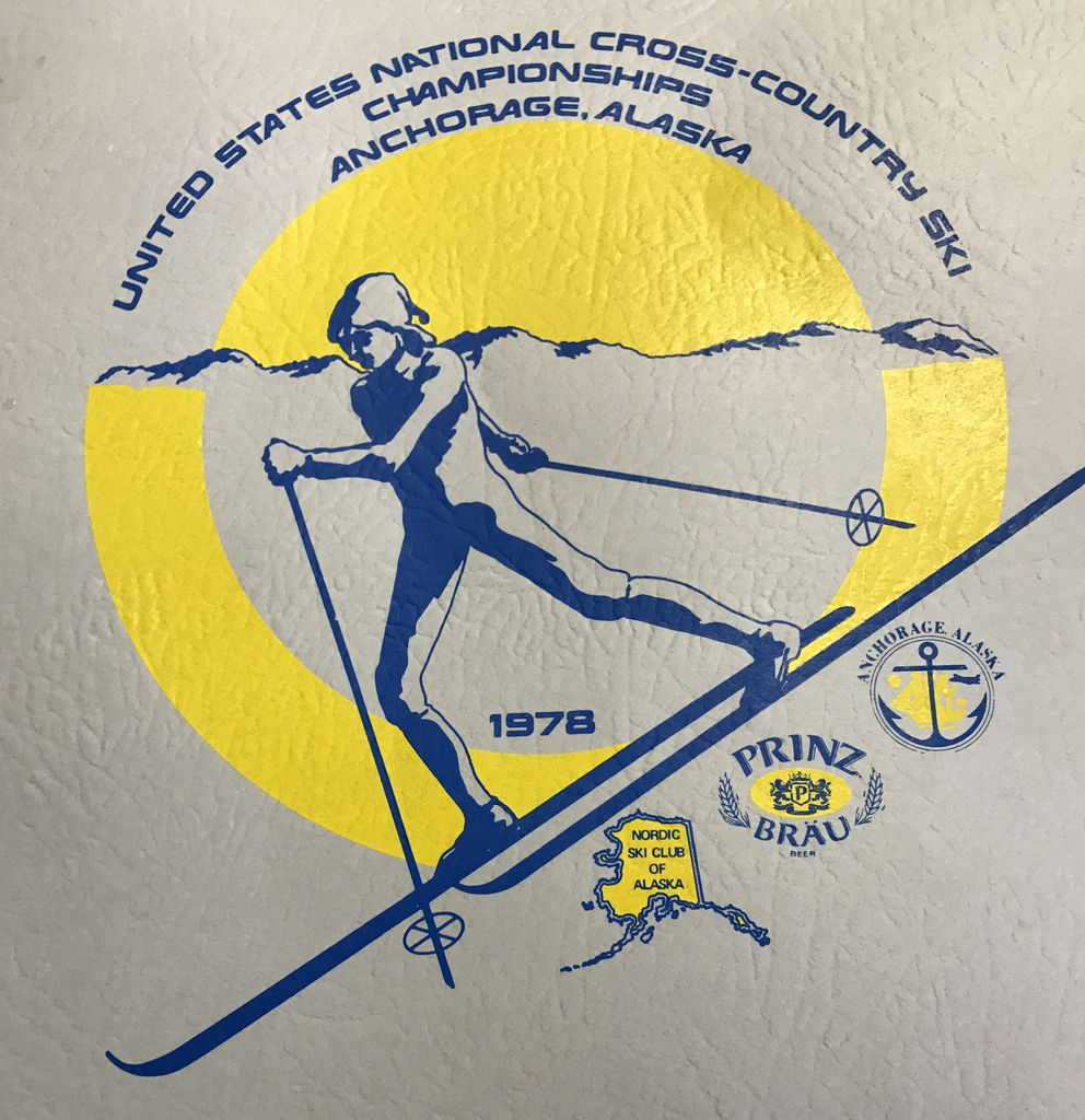 The logo for the 1978 U.S. National Cross Country Ski Championships at Kincaid Park and Russian Jack. (Beth Bragg / ADN)