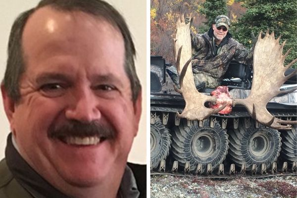 Jeffrey Brian Babcock, left, 58 of Wasilla, and Charles Eric Benson, 56 of Palmer, died in a plane crash Monday, May 27, 2019, in Whitehorse, Yukon. Both men worked for the National Park Service. (National Park Service and Benson family photos)