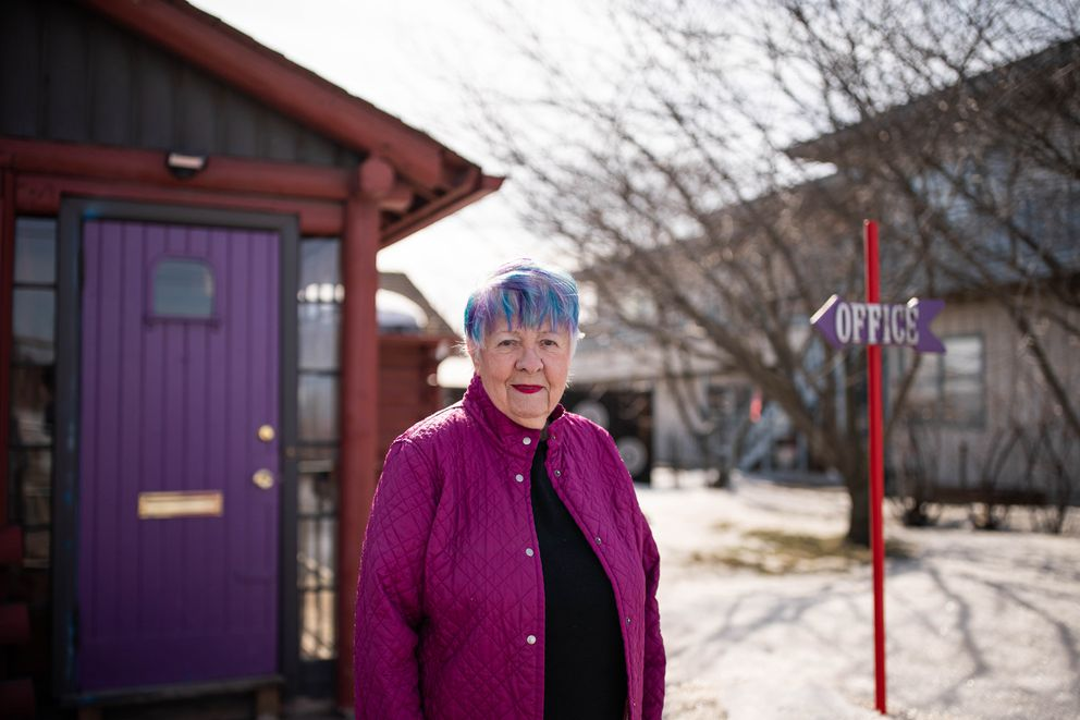 Wadeen Hepworth, photographed at her home on 3rd Avenue in downtown Anchorage on April 10, 2020. (Loren Holmes / ADN)